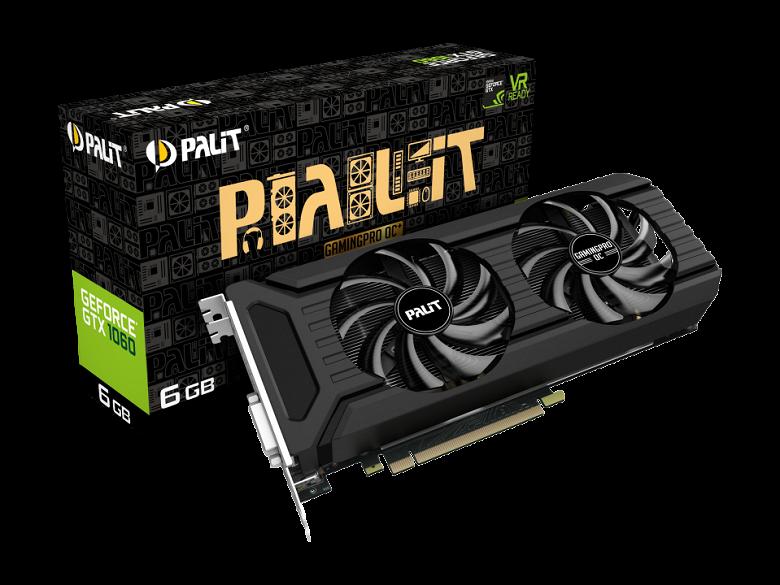 Память GDDR5X на видеокарте Palit GTX 1060 GamingPro OC+ удивляет низкой частотой