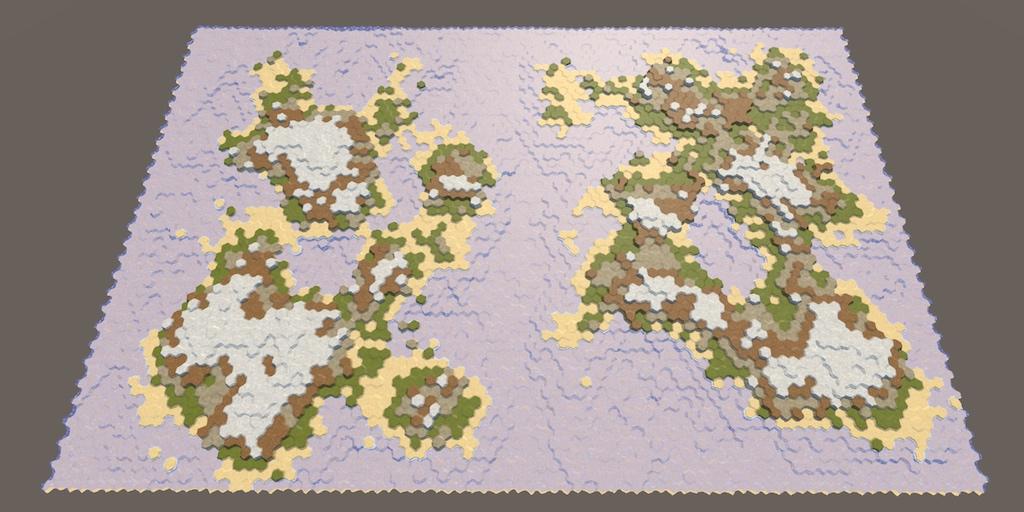 Карты из шестиугольников в Unity: круговорот воды, эрозия, биомы, цилиндрическая карта - 1