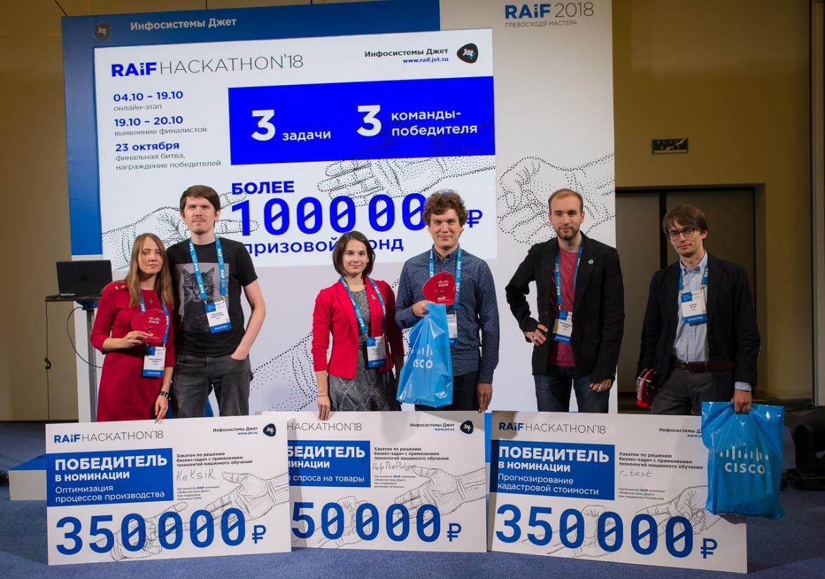 Результаты AI-хакатона RAIF Hackathon 2018 - 1
