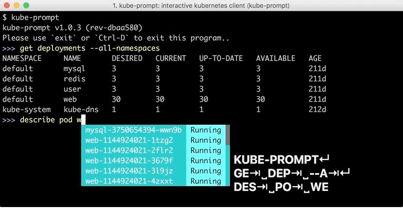 kubebox и другие консольные оболочки для Kubernetes - 4