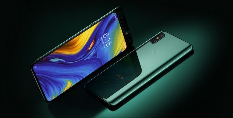 Смартфон Xiaomi Mi Mix 3 Emerald Green поступит в продажу уже завтра