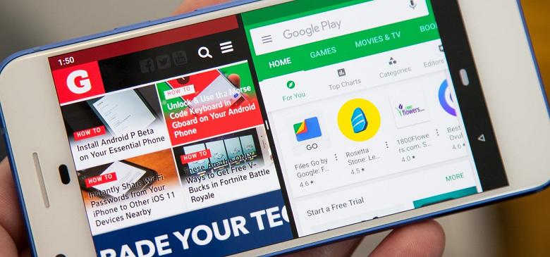 Android 10 в режиме Split-screen позволит работать двум-трём приложениям одновременно