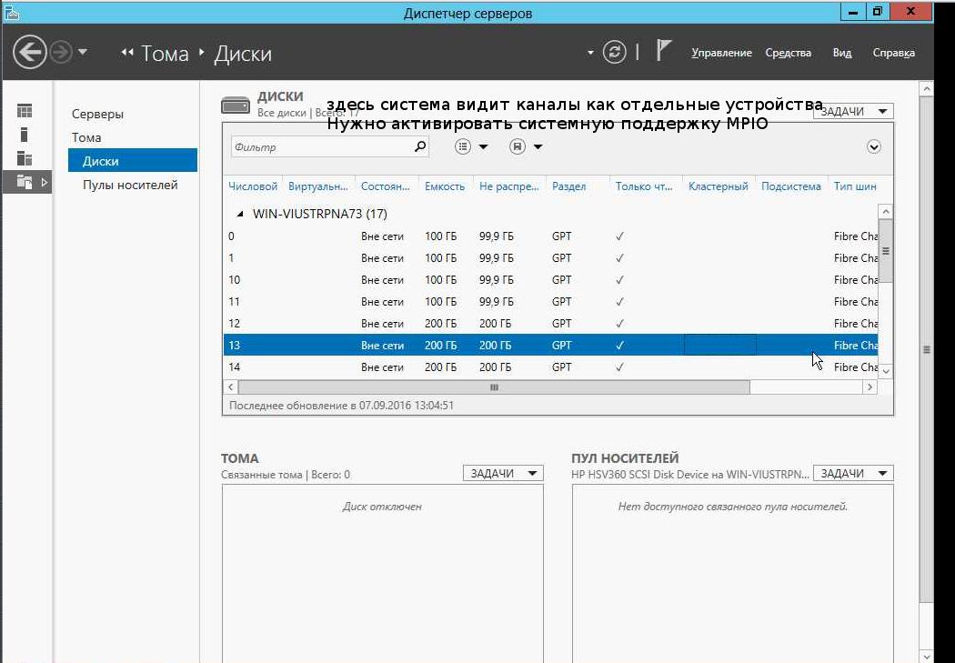 Подключение Multipath LUN СХД к Windows Server 2008 и Windows Server 2012 - 1