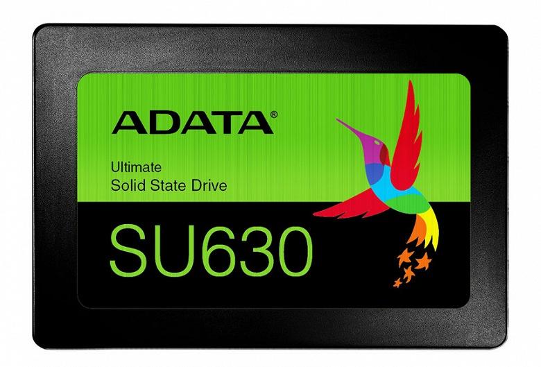 Adata представила твердотельный накопитель SU630 на основе памяти 3D QLC NAND