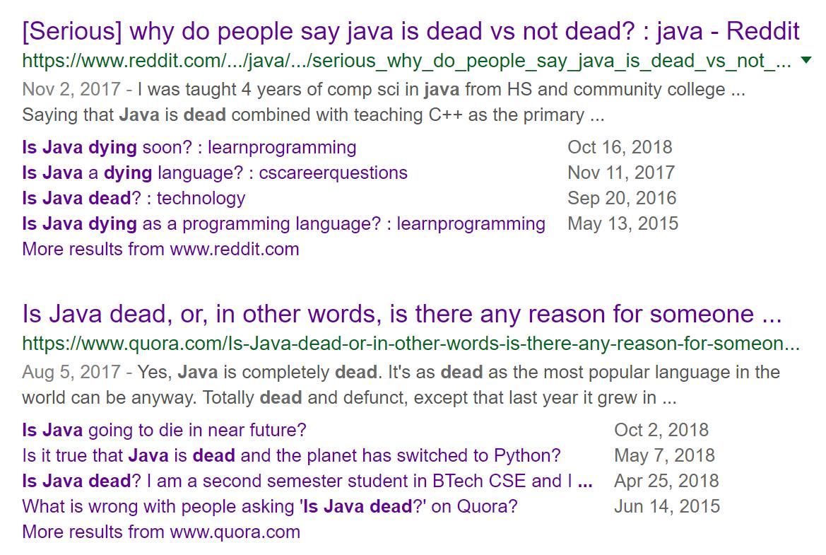 Когда Java наконец помрёт, что с этим делать и что будет с JPoint - 1