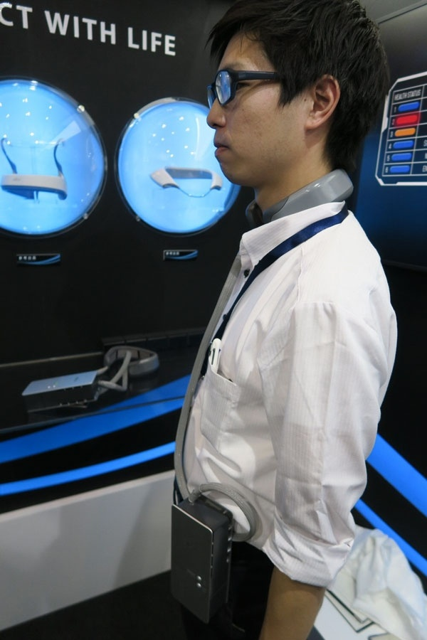 Fujitsu General создала нашейный кондиционер с жидкостным охлаждением