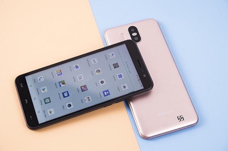 60-долларовый смартфон HomTom может распознавать пользователей по лицам и отпечаткам пальцев