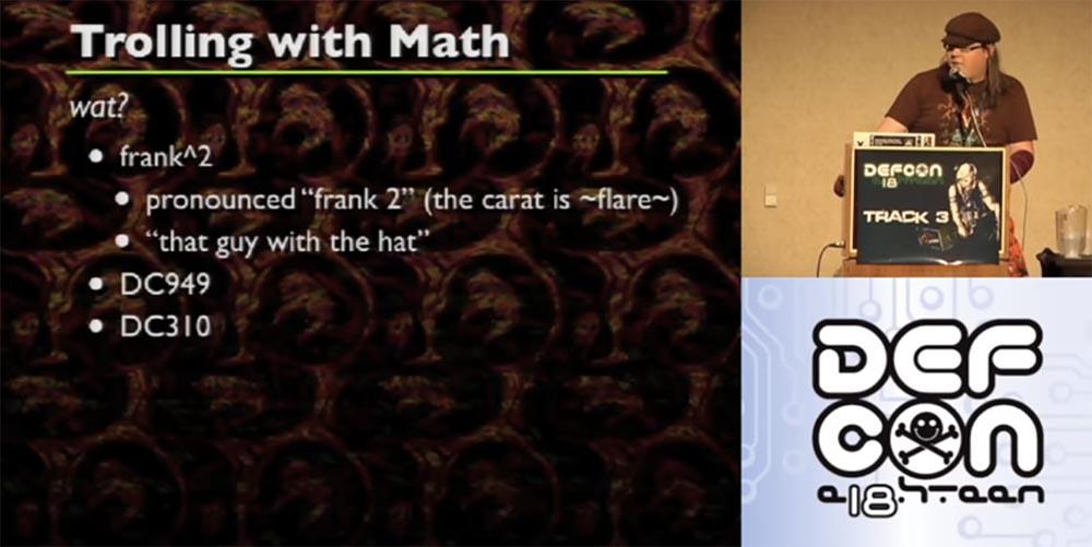 Конференция DEFCON 18. Троллим реверс-инжиниринг с помощью математики - 1