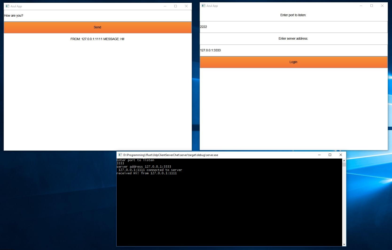 Изучаю Rust: Как я UDP чат сделал c Azul - 1