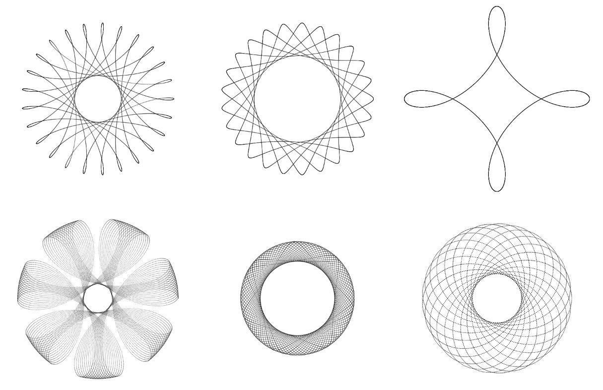 Красивая и познавательная анимация: случаи кругового движения и колебаний - 1
