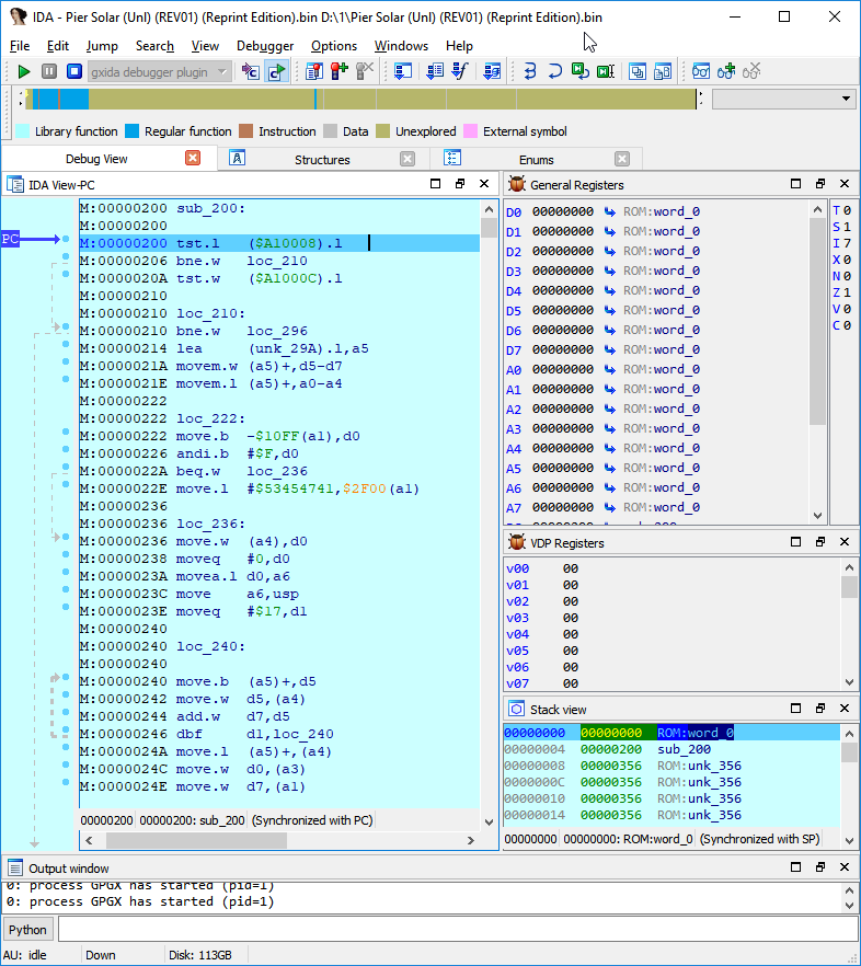 Модернизация IDA Pro. Отладчик для Sega Mega Drive (часть 2) - 1