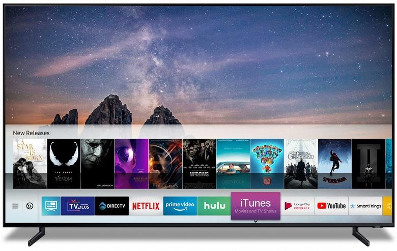 Умные телевизоры Samsung получат поддержку Apple iTunes Movies и AirPlay 2
