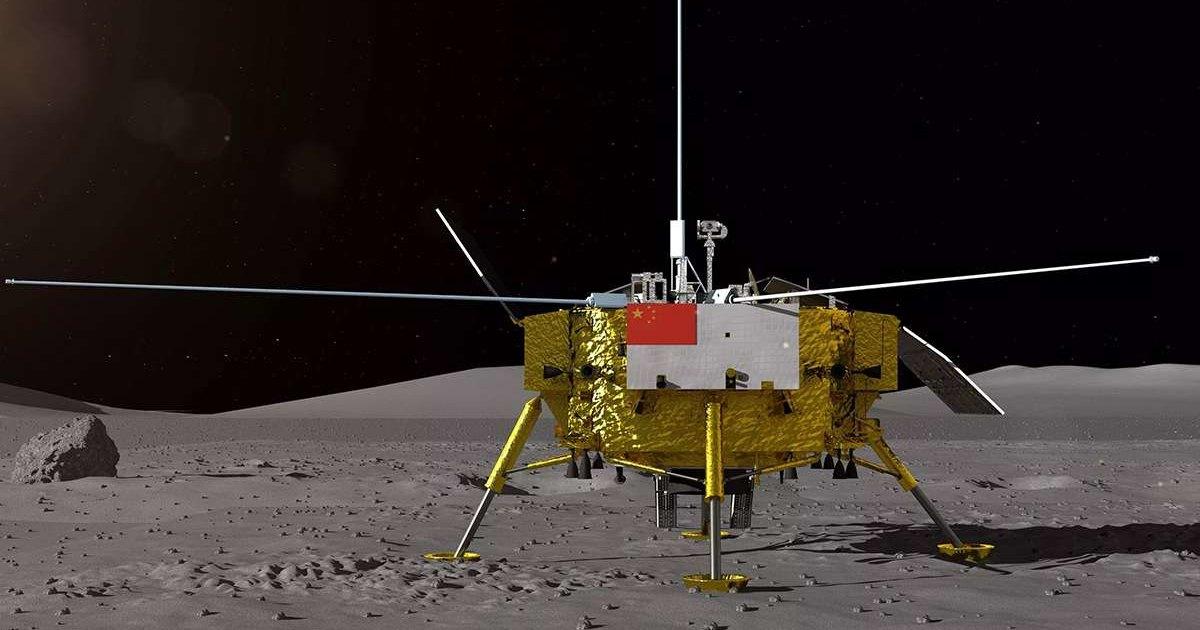 Видео посадки «Юйту-2» на обратную сторону Луны
