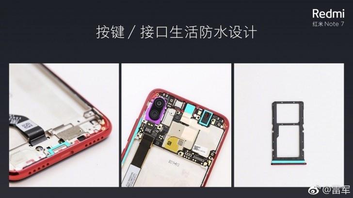 Смартфон Redmi Note 7 оказался защищённым от попадания воды и пыли
