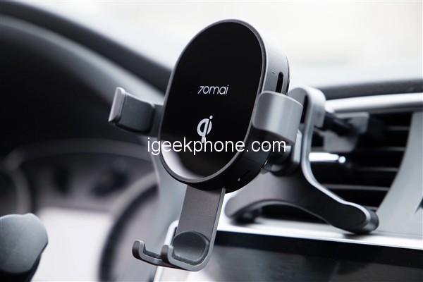 Xiaomi представила 10-ваттную беспроводную автомобильную зарядку для смартфонов за $12