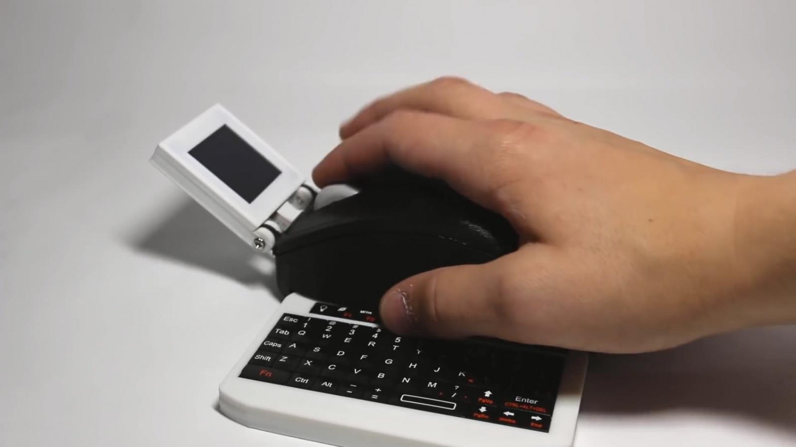 Умелец превратил Raspberry Pi в компьютерную мышь с монитором и клавиатурой - 1