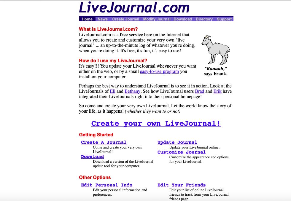 «Linux соцсетей» – как LiveJournal стал первооткрывателем блогов, а потом потерял их - 2