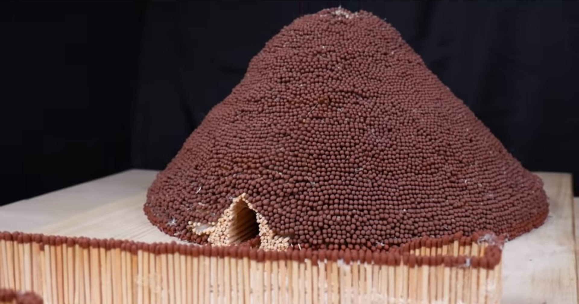 Как сделать модель вулкана из спичек