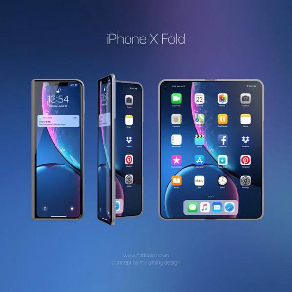 iPhone X Fold — этим смартфоном Apple может ответить на Samsung Galaxy Fold и Huawei Mate X