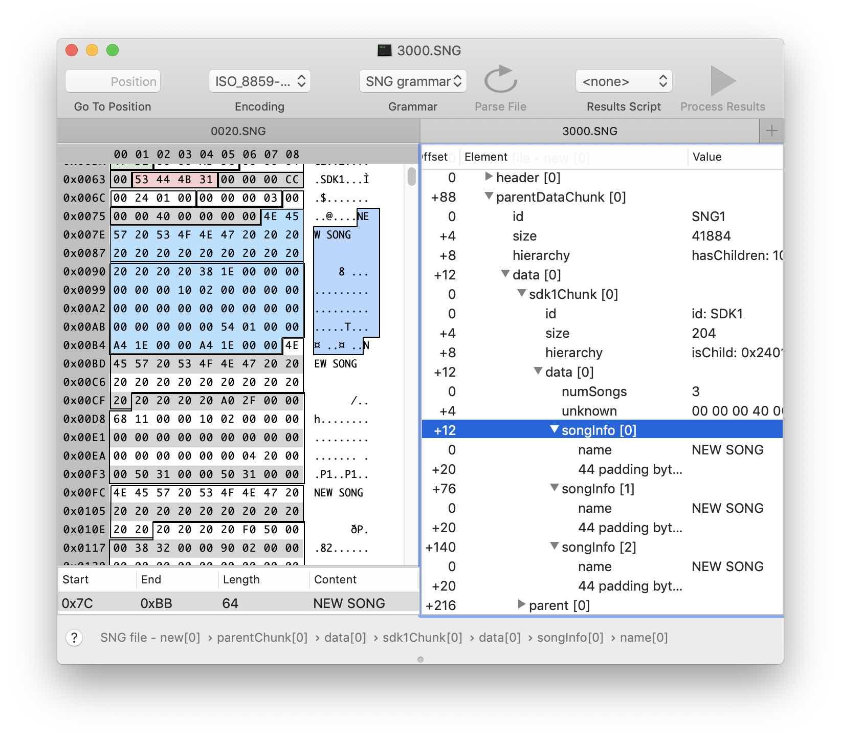 Реверс-инжиниринг бинарного формата на примере файлов Korg .SNG - 15