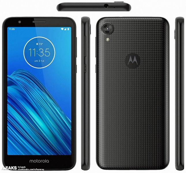 Официальный рендер Motorola Moto E6