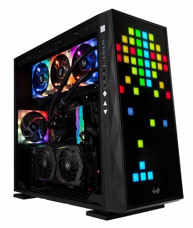 Передняя панель корпуса In Win 309 представляет собой дисплей