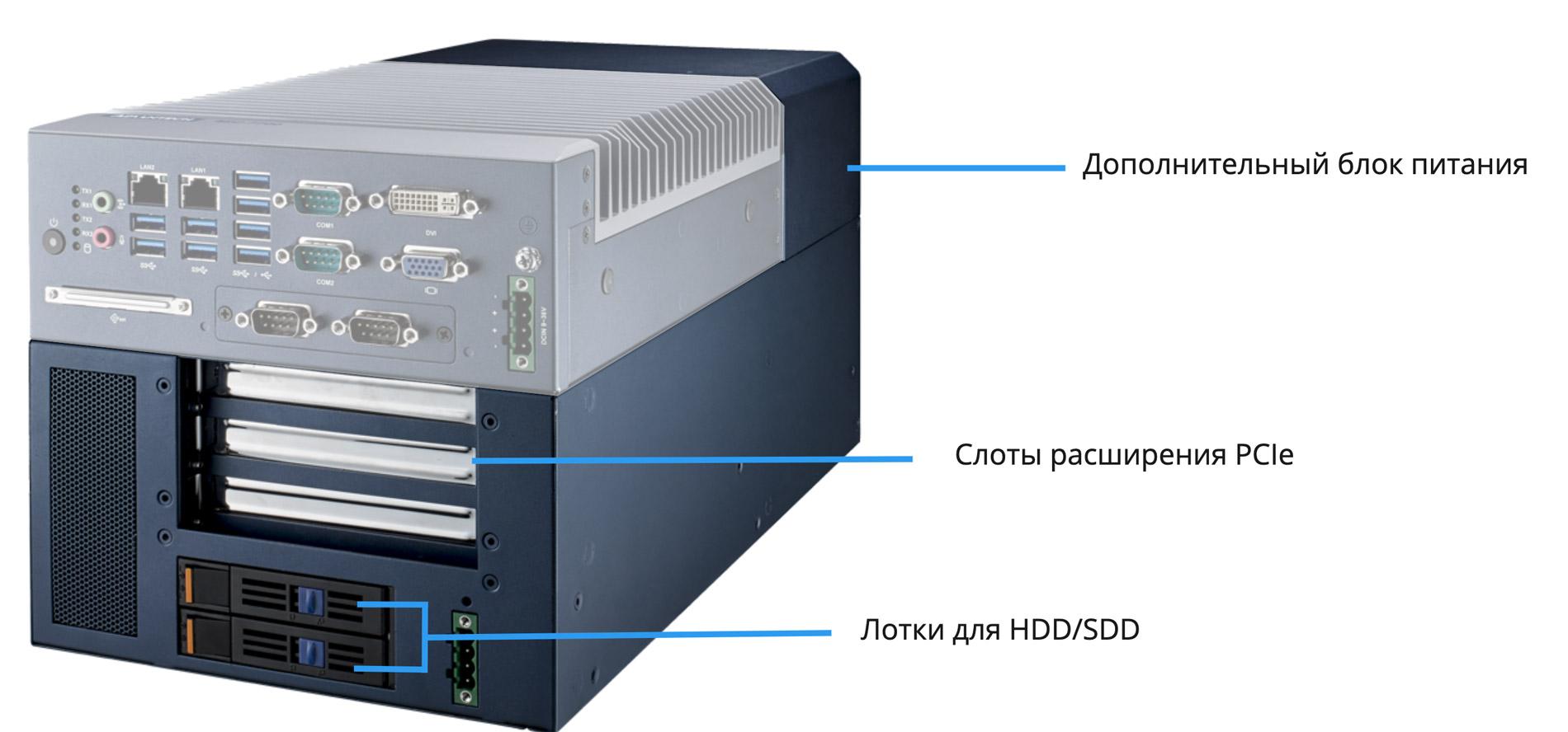 Безвентиляторные производительные компьютеры MIC-7000 - 8