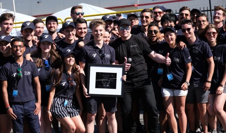 Капсула команды TUM установила новый рекорд на состязаниях SpaceX Hyperloop Pod Competition