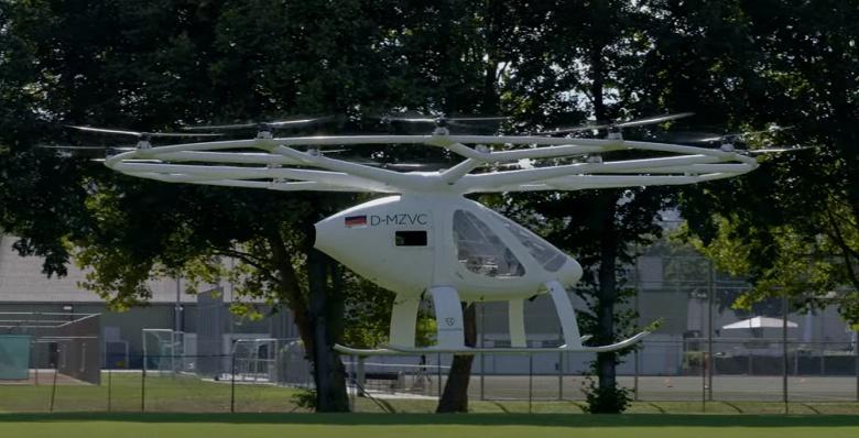 Беспилотное летающее такси Volocopter совершило свой первый европейский «городской полёт»