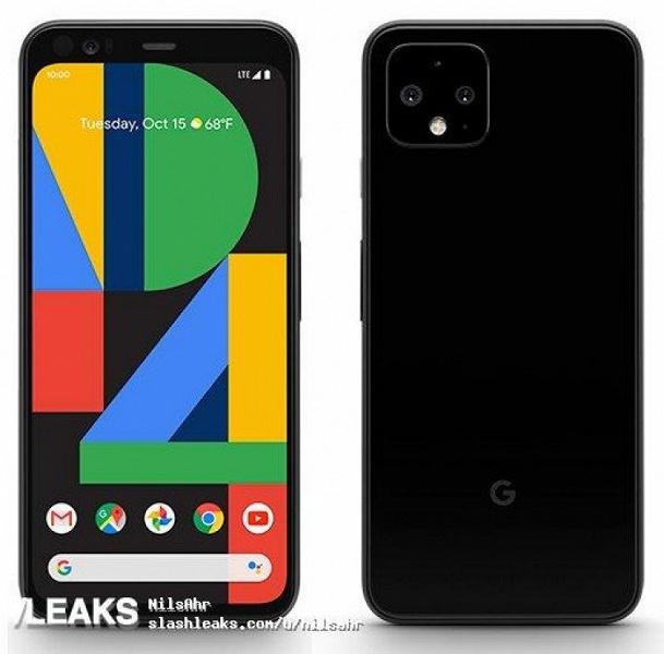 Официальный рендер финальной версии Google Pixel 4