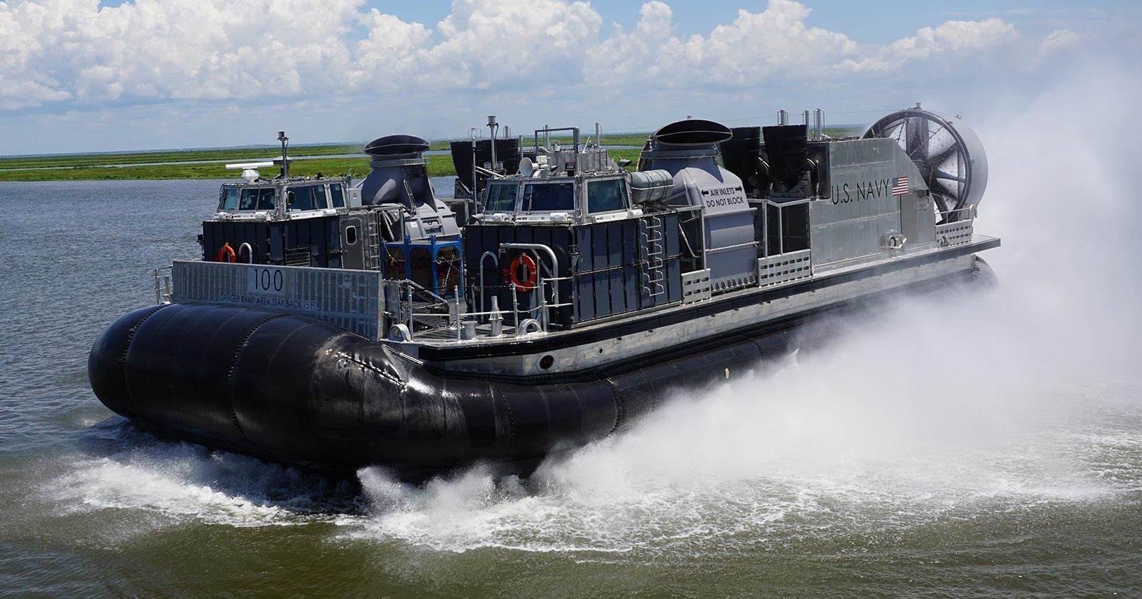 ВМС США испытают судно на воздушной подушке мощностью 25 000 л.с.
