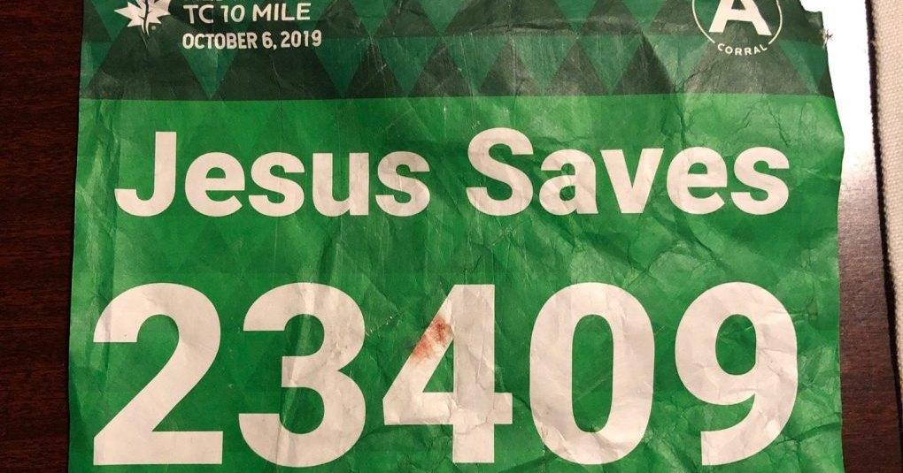 Пророчество на майке сработало: Иисус действительно воскресил бегуна