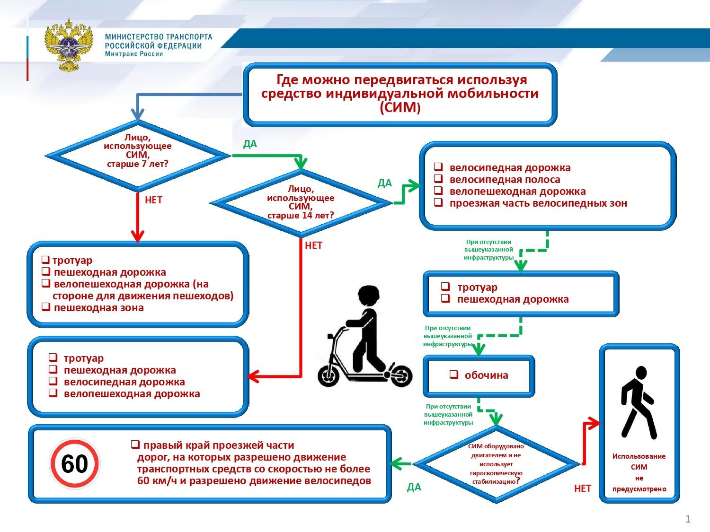 Министерство транспорта РФ пояснило правила использования средств индивидуальной мобильности - 1