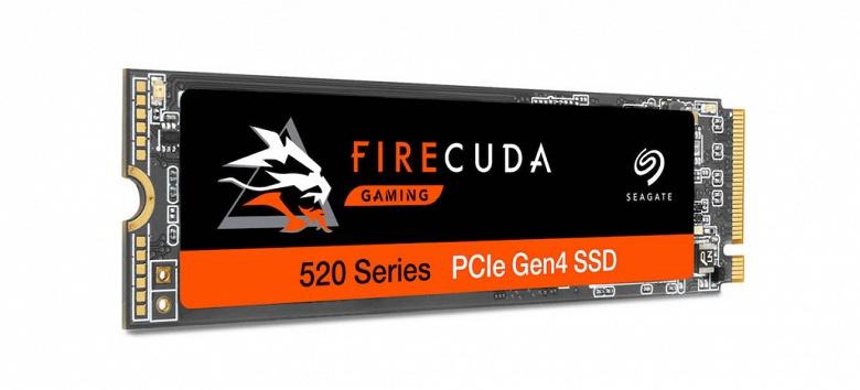 Твердотельный накопитель Seagate FireCuda 520 оснащен интерфейсом PCIe Gen4 x4