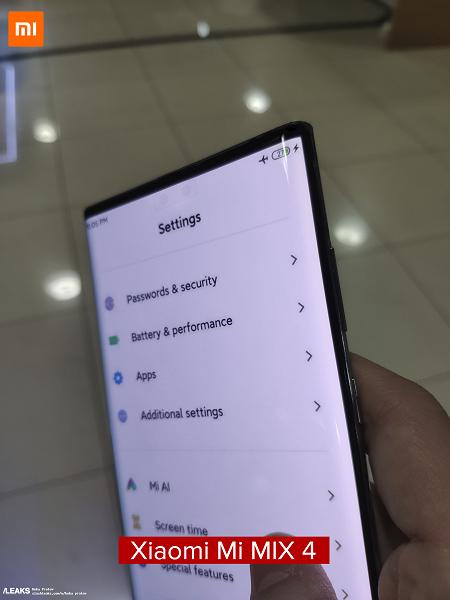 Живые фото настоящего Xiaomi Mi Mix 4 продемонстрировали работу скрытой камеры