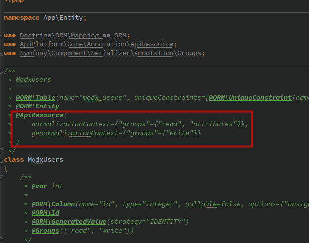 Как создать RESTful API на Symfony 5 + API Platform для проекта на MODX - 7