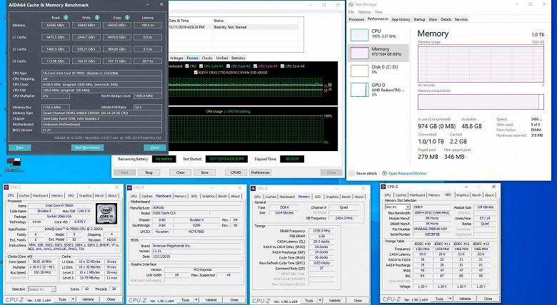 Энтузиаст смог заставить работать 1 ТБ оперативной памяти в плате на чипсете X299