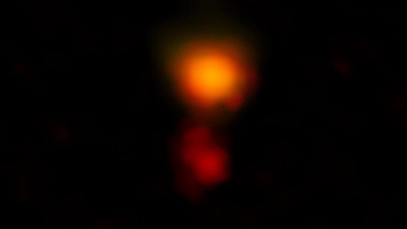 Астрономы засняли далекую звездообразующую галактику MAMBO-9