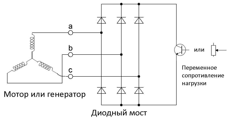 Мотор в качестве электромагнитного тормоза - 4