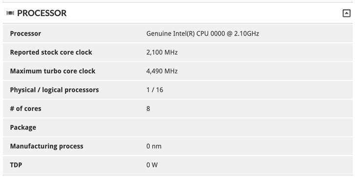Топовый мобильный процессор Intel Core i7-10875H получит 8 ядер частотой до 4,5 ГГц