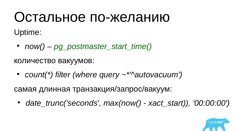 Основы мониторинга PostgreSQL. Алексей Лесовский - 19