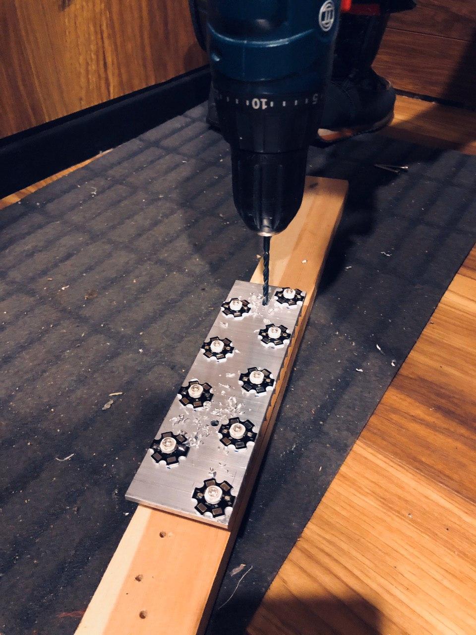 Экспресс UV лампа своими руками 400-405 нм для полимеризации 3D фотополимерных моделей - 13
