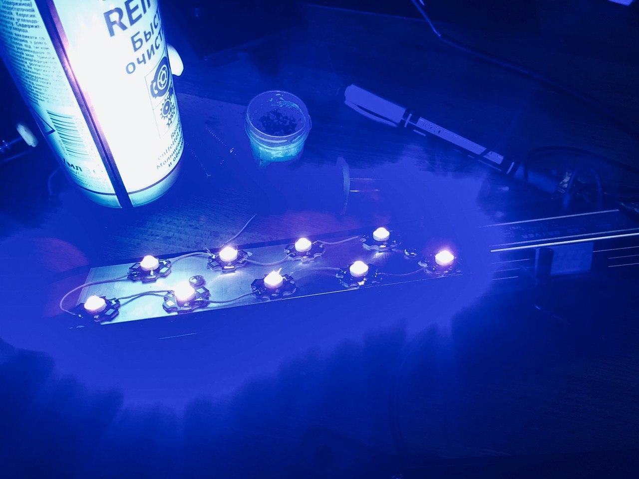 Экспресс UV лампа своими руками 400-405 нм для полимеризации 3D фотополимерных моделей - 19