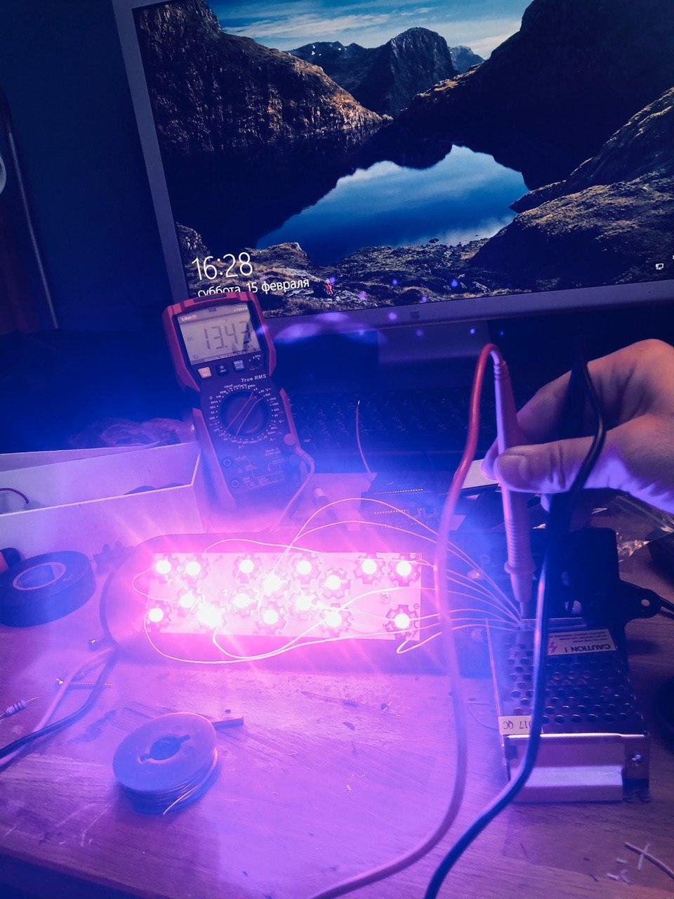Экспресс UV лампа своими руками 400-405 нм для полимеризации 3D фотополимерных моделей - 24