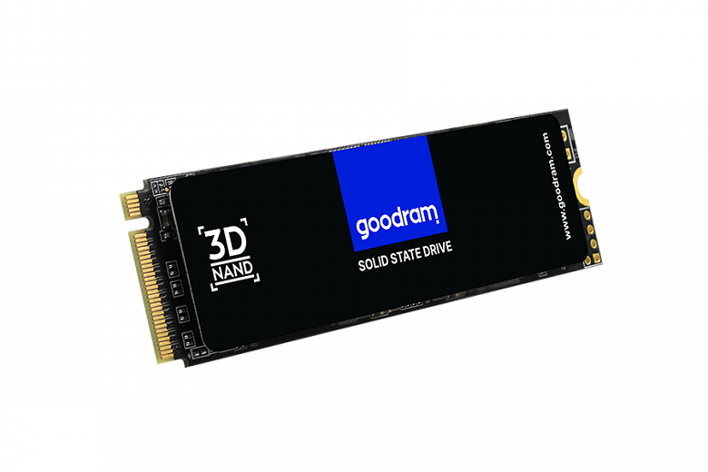 Твердотельный накопитель Goodram PX500 снабжен радиатором