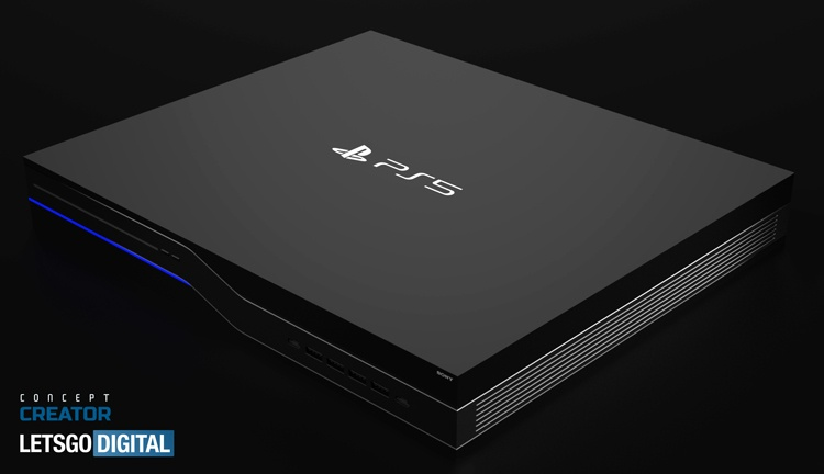 Новый дизайн консоли Sony PlayStation 5: концепт-рендеры и анимация
