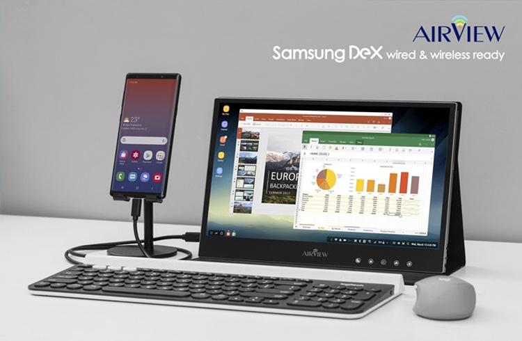 Беспроводной монитор AirView для смартфонов и ноутбуков работает от аккумулятора