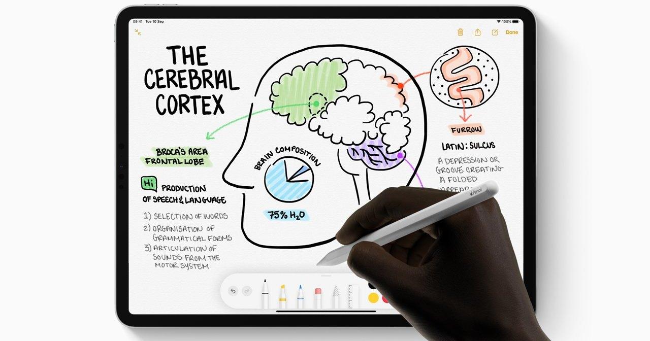 Apple тестирует рукописный ввод во всех приложениях iPad