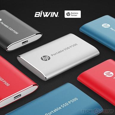 Объем портативных SSD HP P500 достиг 1 ТБ