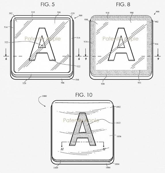 В Apple изобрели прозрачные колпачки для клавиш